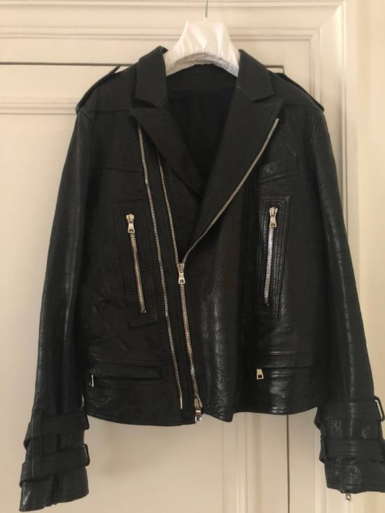 Balmain Leather Biker Jacket Size US L / EU 52-54 / 3