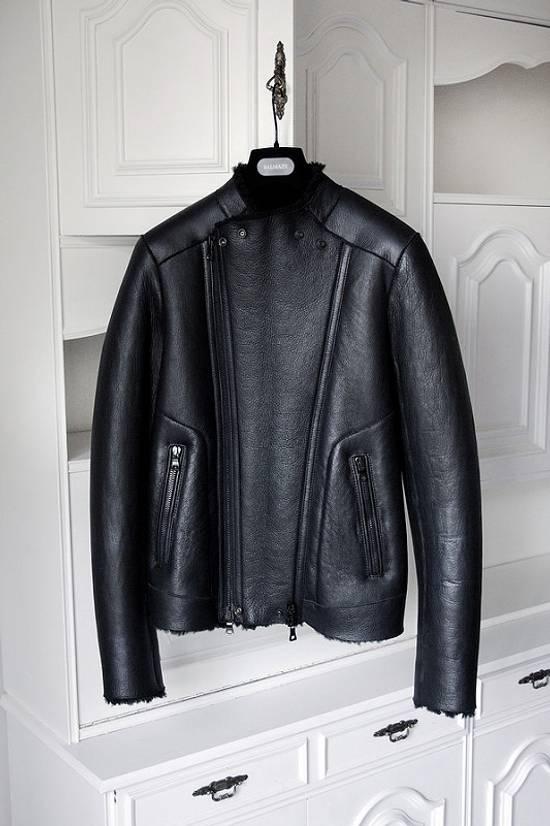 Balmain xy AW2013-2014 shearling biker jacket Size US S / EU 44-46 / 1 - 1