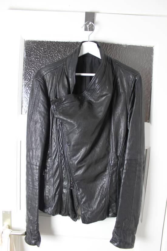 Julius 11aw halo asymmetrical leather jacket Size US M / EU 48-50 / 2 - 11