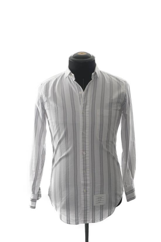 Thom Browne Thom Browne Brown Striped Shirt Size US XS / EU 42 / 0