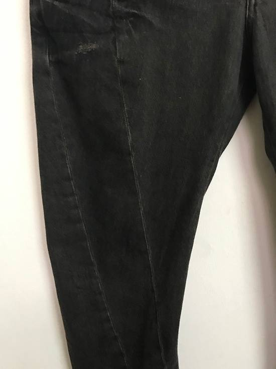 Julius Japanese Designer JULIUS7 Made in Japan Distressed Curved in Legs Denim Pant Size US 33 - 4