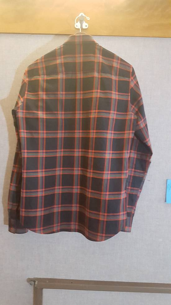 Givenchy Plaid Woven shirt with leather trim Size US M / EU 48-50 / 2 - 2