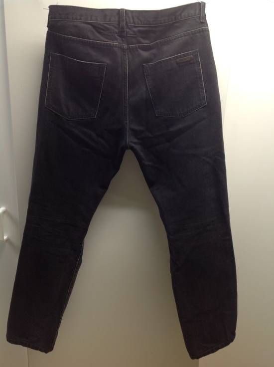 Givenchy Givenchy Black Denim With White Trim Size US 32 / EU 48 - 2