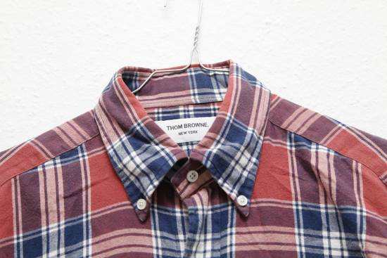 Thom Browne Soft Checked Flannel Shirt Size US L / EU 52-54 / 3 - 1