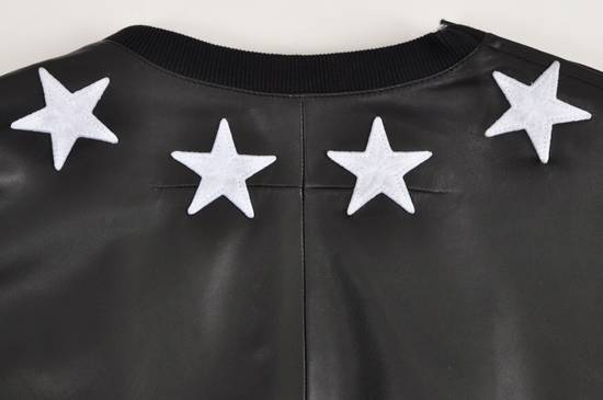 Givenchy 2500$ Black Leather Star Embroidered T-shirt Size US L / EU 52-54 / 3 - 4