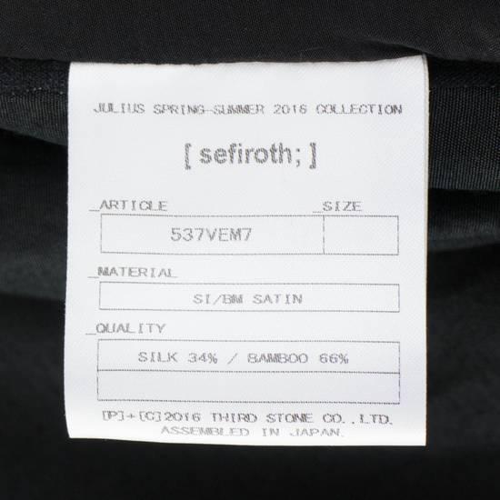 Julius 7 Men's Black Silk Blend Long Vest Size 3/M Size US M / EU 48-50 / 2 - 7