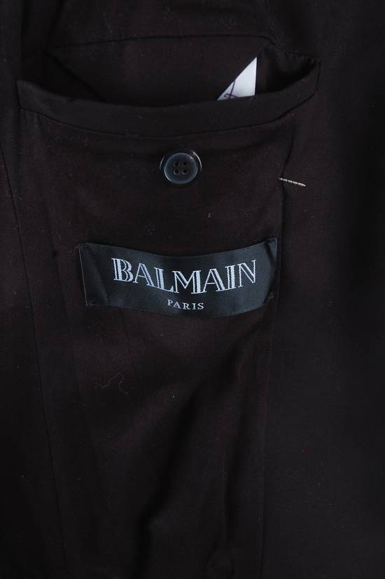 Balmain Balmain Black Leather Sleeve Blazer Size US S / EU 44-46 / 1 - 6