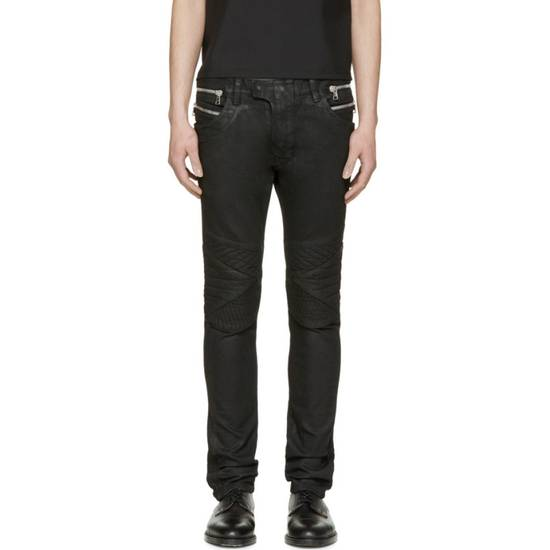 Balmain Balmain black coated biker 28 Size US 28 / EU 44