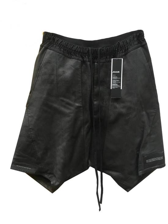 Julius LAST DROP! Size 3 - Medium - Leather Julius Black Drop Crotch Shorts - SS16 - $1300 Retail Size US 32 / EU 48
