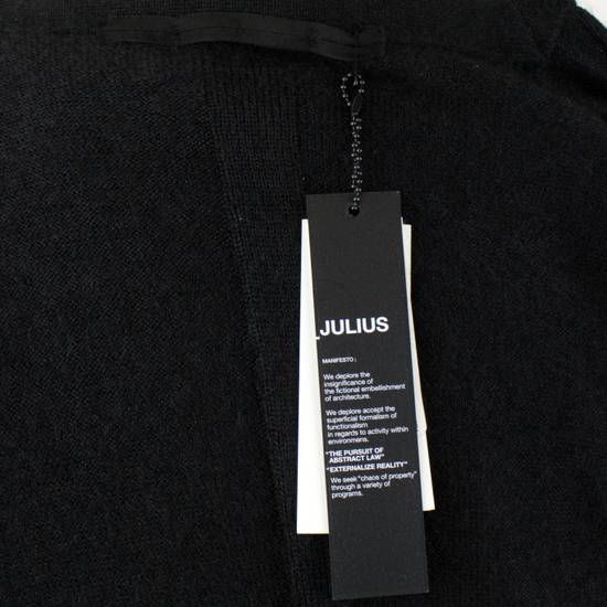 Julius 7 Black Silk-Mohair 'Square Neck Panelled' Sweater Size 1/XS Size US XS / EU 42 / 0 - 6