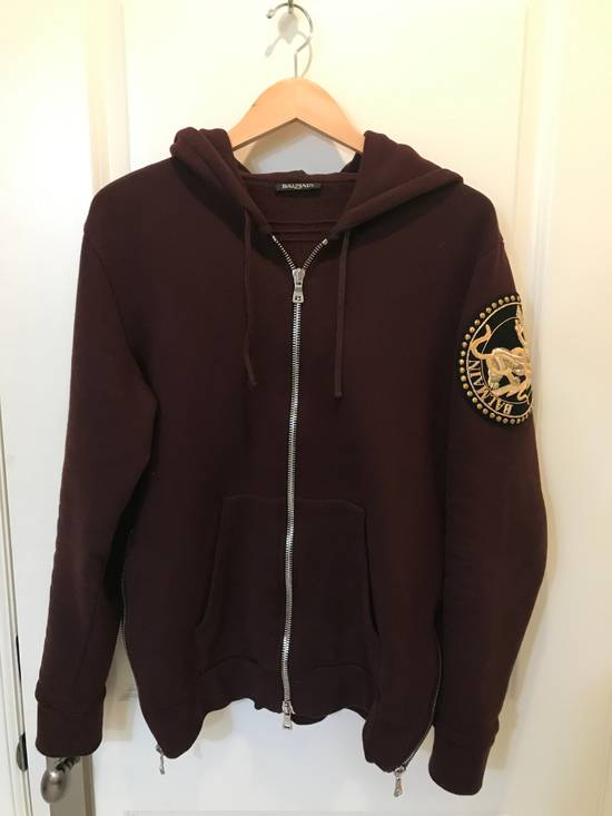 Balmain Embroidered Crest Hoodie Size US M / EU 48-50 / 2