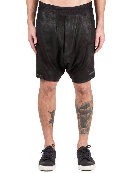 Julius LAST DROP! Size 3 - Medium - Leather Julius Black Drop Crotch Shorts - SS16 - $1300 Retail Size US 32 / EU 48 - 2