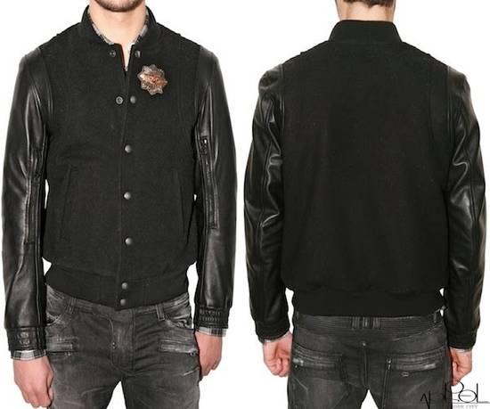 Balmain Balmain Varsity Teddy Bomber Jacket Leather Wool Black Size 52 Decarnin FW10 Large Baseball Size US L / EU 52-54 / 3