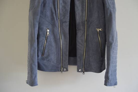 Balmain 1 of 1 Greyish Blue Suede Biker Size US M / EU 48-50 / 2 - 2
