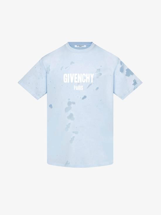 Givenchy Givenchy Baby Blue Destroyed Distressed Logo Shark Oversized T-shirt size M (XL) Size US XL / EU 56 / 4 - 1