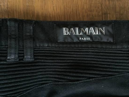 Balmain Black Moleskin Biker (2015) Size US 29 - 11