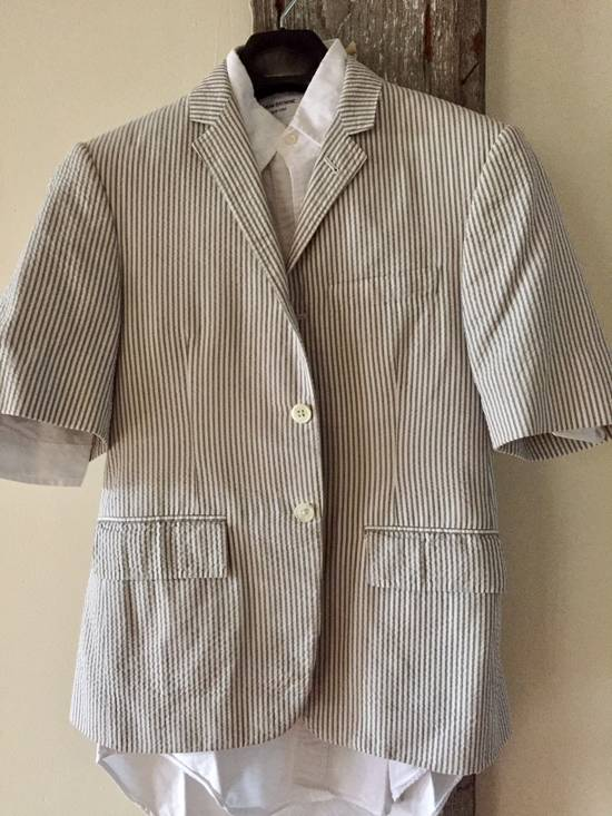 Thom Browne Striped Short Sleeve Short Suit w/ Shirt Size 36S