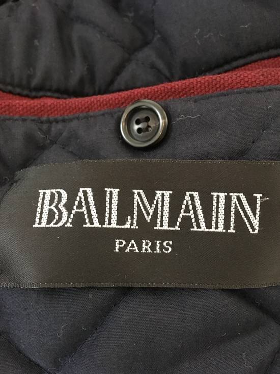 Balmain Raccoon Fur-Trimmed Quilted Biker Jacket Size US M / EU 48-50 / 2 - 6