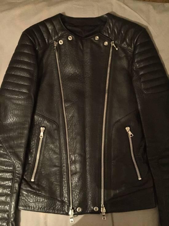 Balmain Leather Biker Jacket Lambskin Original SS12 Brand New Size US M / EU 48-50 / 2 - 13