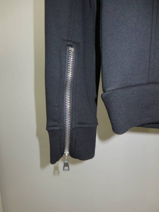 Balmain Quilted leather and cotton sweatshirt Size US XS / EU 42 / 0 - 8