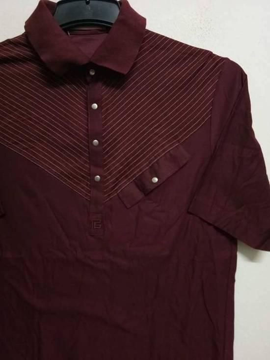 Balmain Stripes Maroon Polo Shirt Size US S / EU 44-46 / 1 - 3