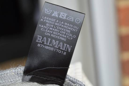 Balmain Grey Distressed Biker Jeans Size US 32 / EU 48 - 6