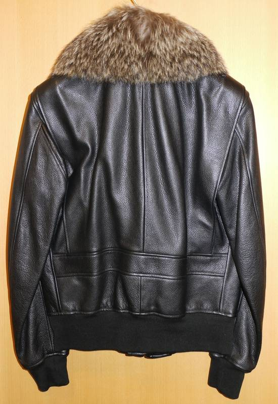Givenchy Givenchy 15AW Raccoon Collar Calf Leather Jacket size 48 Size US M / EU 48-50 / 2 - 1