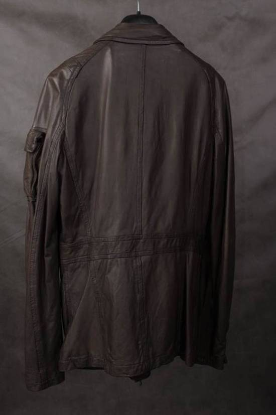 Julius Final Price! AW08 gasmask M65 leather jckt Size US L / EU 52-54 / 3 - 2