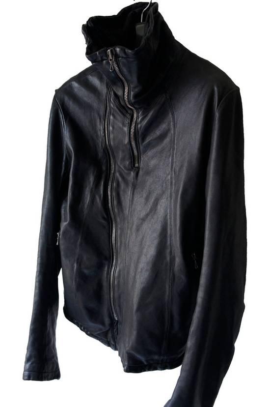 Julius JULIUS _7 ma high neck black lamb biker jacket slim fit Japan Size US S / EU 44-46 / 1 - 8