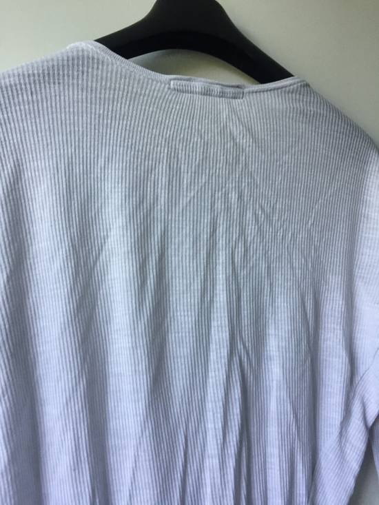 Julius Elongated White Ribbed Longsleeve Size US S / EU 44-46 / 1 - 5