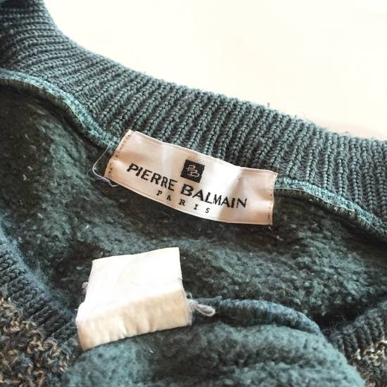 Balmain Final Drop Before Delete Vintage Pierre Balmain Spell Out Embroidery Sweatshirt Wool Size US M / EU 48-50 / 2 - 3