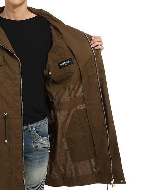 Balmain Balmain Multi Pocket Hooded Cotton Khaki Canvas Authentic $2730 Parka Size L New Size US L / EU 52-54 / 3 - 3