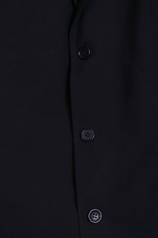 Balmain BALMAIN Paris Mens 46 Blazer Top Suit Black Regular Wool Single Breasted 6860 Size 46R - 1