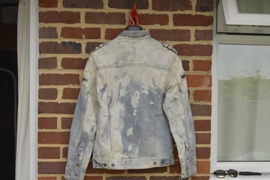 Balmain Light Blue Distressed Denim Jacket Size US S / EU 44-46 / 1 - 10