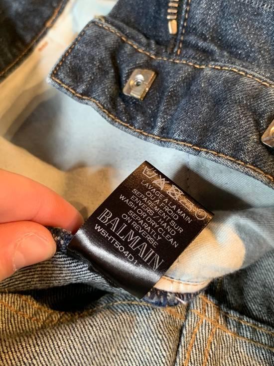 Balmain Balmain Washed Indigo Blue Biker Jeans Size US 32 / EU 48 - 8
