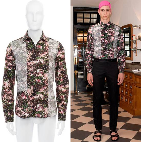 Givenchy GIVENCHY Pre14 reversed panel rose floral digital print cotton shirt US40 FR50 Size US M / EU 48-50 / 2