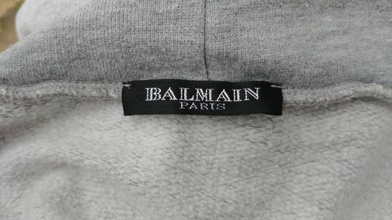 Balmain FW10 Balmain Grey Destroyed Distressed Decarnin Era Men's Hoodie size L (XL) Size US L / EU 52-54 / 3 - 9