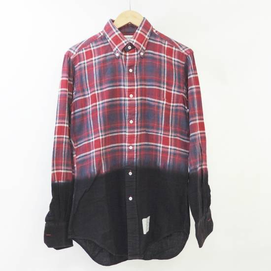 Thom Browne Long Sleeve Red × Blue × Black Checkered Pattern Shirt Button Up Size US L / EU 52-54 / 3