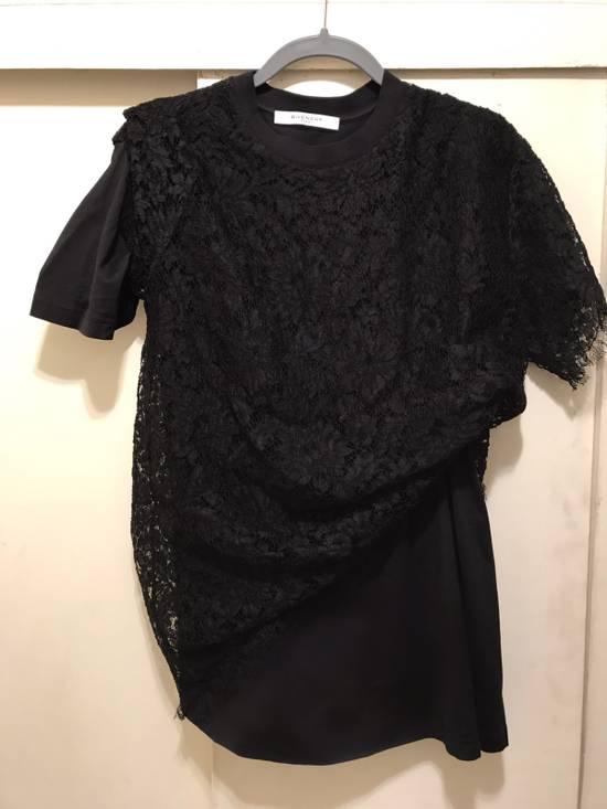 Givenchy Black Lace Overlay Tee Size US M / EU 48-50 / 2 - 2