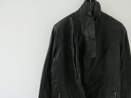 Julius Julius Black Asymmetric Zipped Leather Jacket Size US S / EU 44-46 / 1 - 1