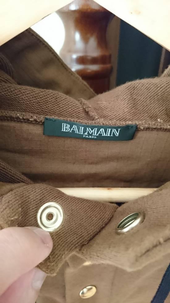 Balmain Brown quilted lamb leather trim hoodie/parka hybrid Size US L / EU 52-54 / 3 - 1