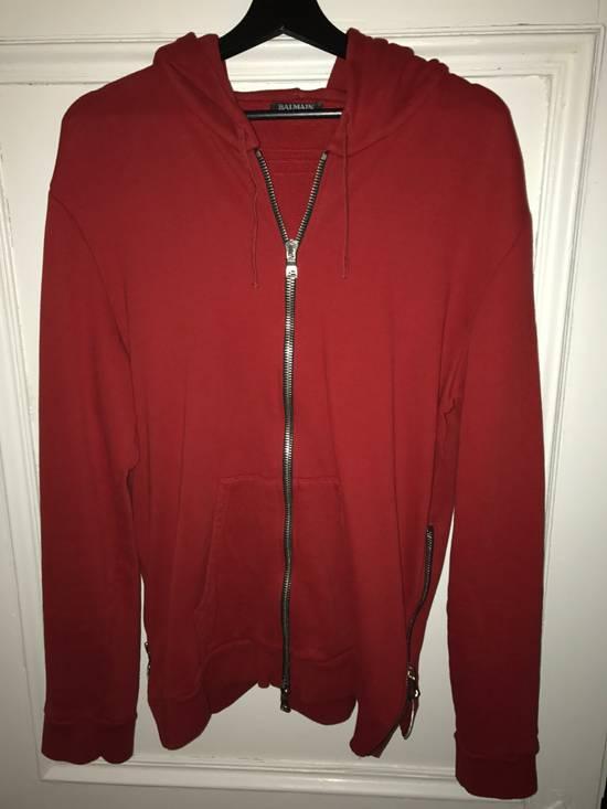 Balmain red hoodie Size US XL / EU 56 / 4