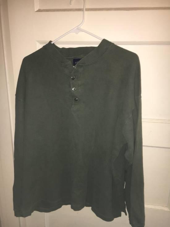 Givenchy Givenchy Army Green Quarter Button Up Long John Thermal Shirt Size US XL / EU 56 / 4