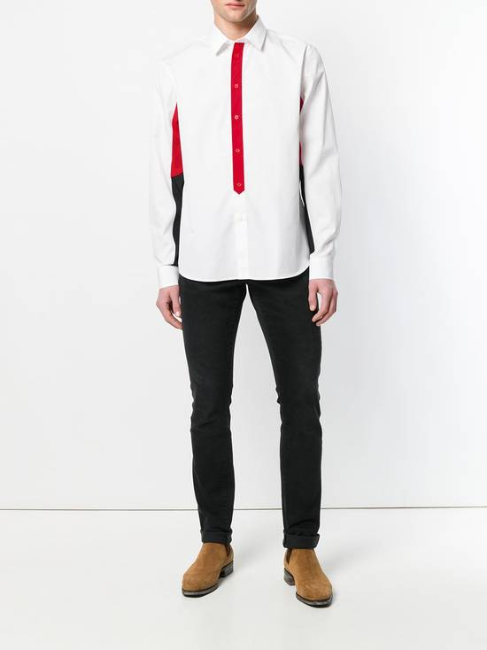 Givenchy $820 Givenchy White Colourblock Rottweiler Shark Men's Shirt size 44 (XL / XXL) Size US XXL / EU 58 / 5 - 4