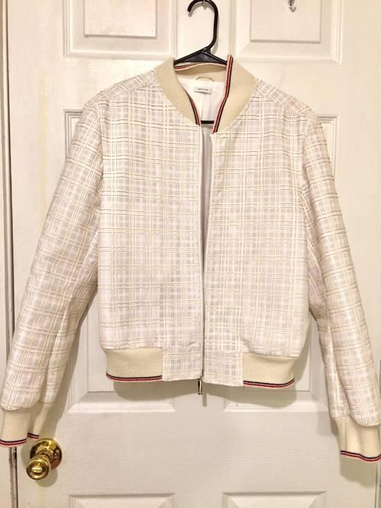 Thom Browne Thom Browne White Ribbed Zip-Up Jacket Size US S / EU 44-46 / 1