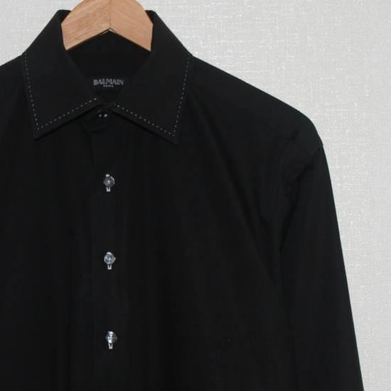 Balmain Vintage Balmain Paris Free Shipping Men's Longsleeve Button Shirt Black Size Fit Like L Cotton Size US L / EU 52-54 / 3