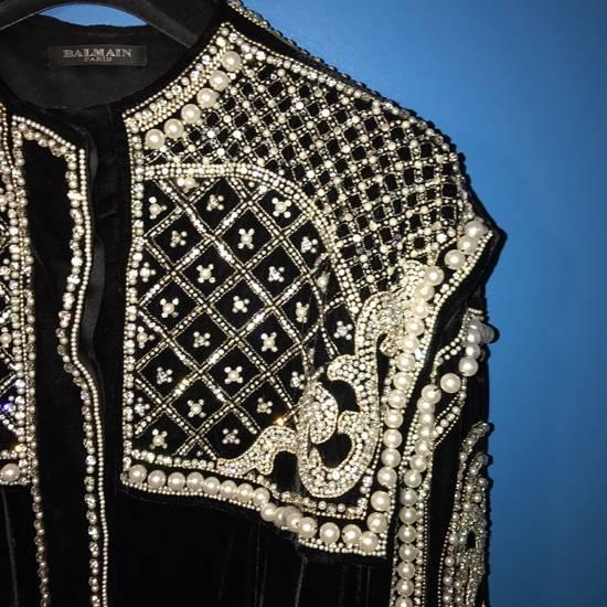Balmain Balmain Fall 2012 Swarovski Crystal & Pearl Jacket Size US XL / EU 56 / 4 - 6