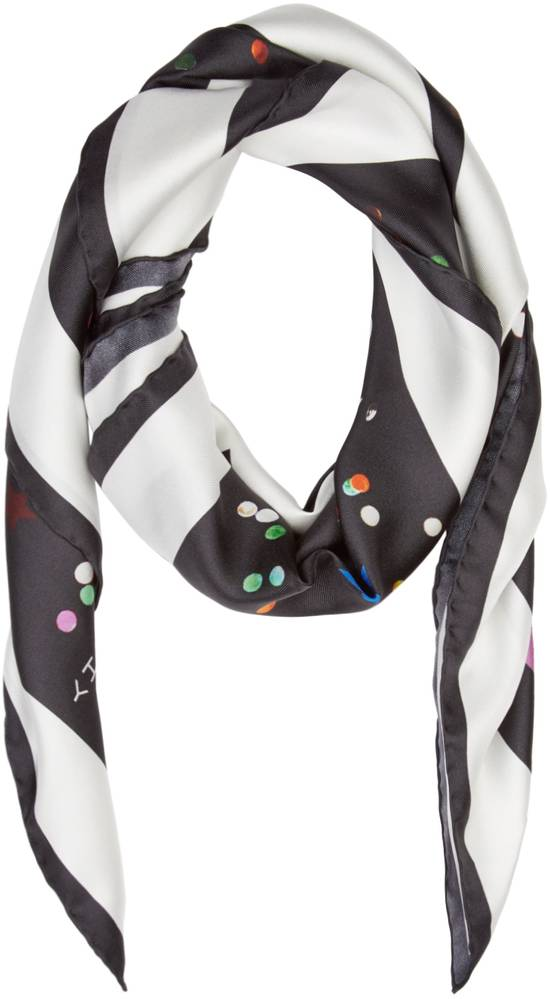 Givenchy Givenchy Black Bambi Confetti Print Large Rottweiler Silk Scarf (86 cm x 86 cm) Size ONE SIZE - 1