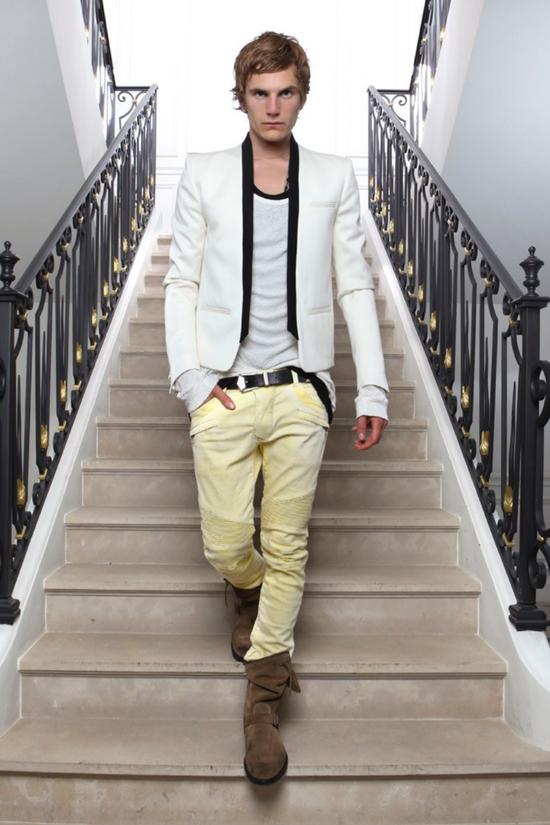 Balmain White Tuxedo jacket Size 48S