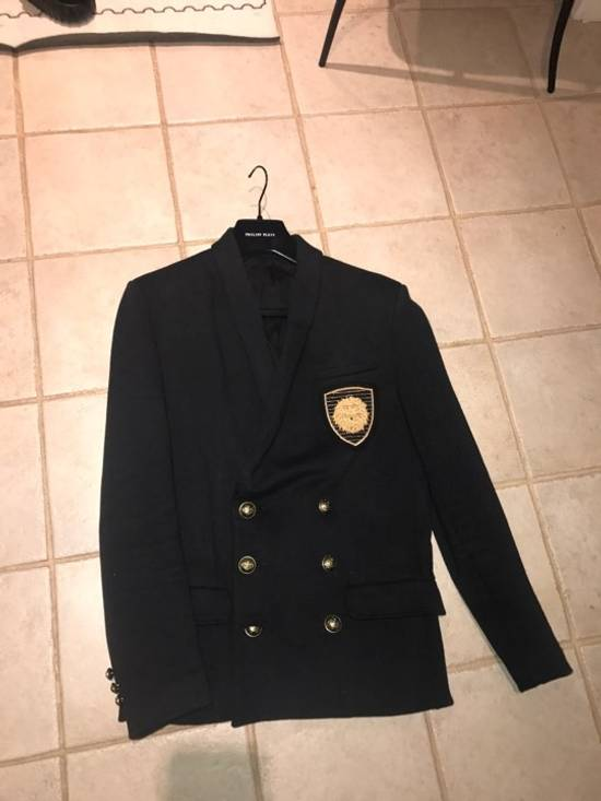 Balmain Balmain jersey embroidered double breasted blazer Size 50L